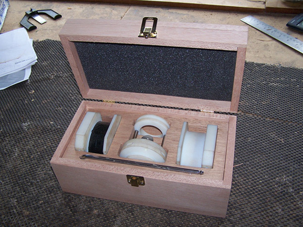 Custom wooden box.