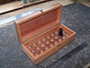 Custom box with internal pockets for components, eg essential oil bottles