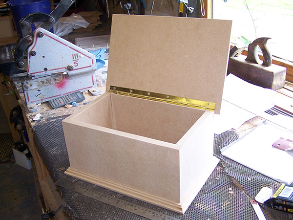 Plywood box with foam insert