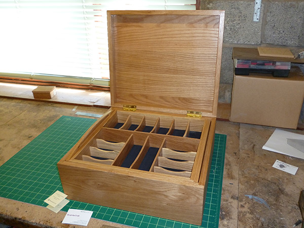 Handcrafted wooden presentation box